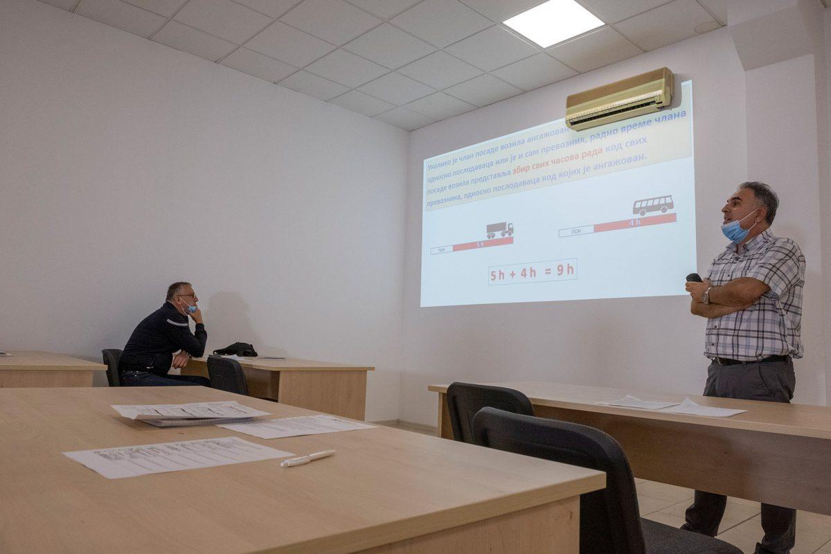 CPC Polaganje, Obuka profesionalnih vozaca