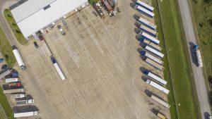 Truckstop Bugarinovic, slika iz drona