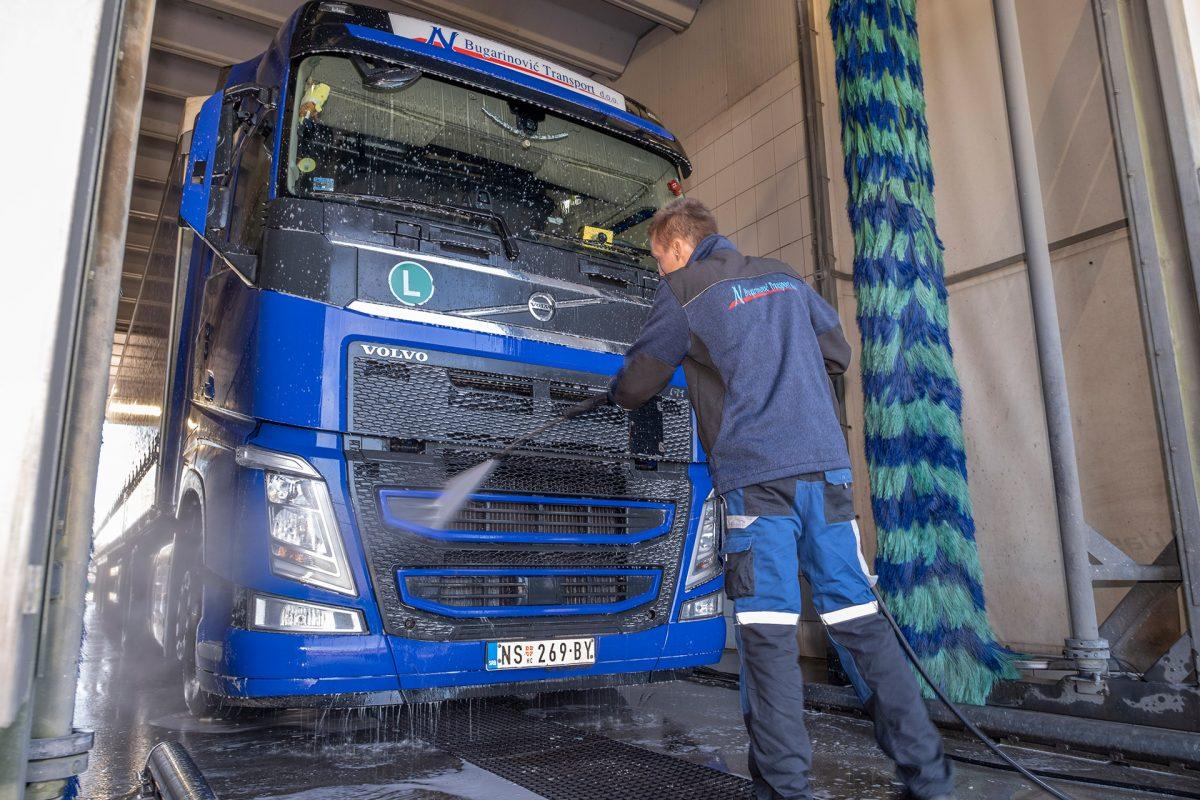 Perionica kamiona Bugarinovic Transport, Pranje kamiona